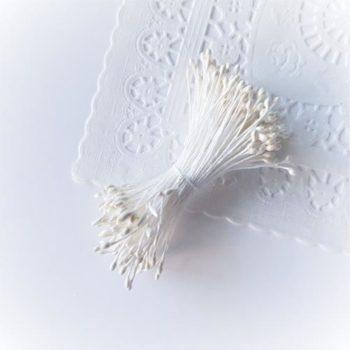 Белые тычинки 1-2мм 100 шт.