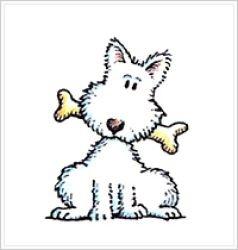 Штамп деревянный Собака с косточкой - Mary Engelbreit Ink