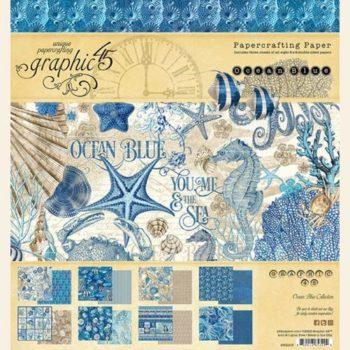4502015 Набор бумаги Ocean Blue - Graphic 45, 20*20, 24 листа