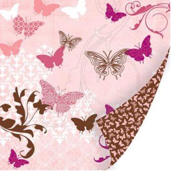 Бумага Papillon - Chocolat - SEI с тиснением 30,5*30,5см