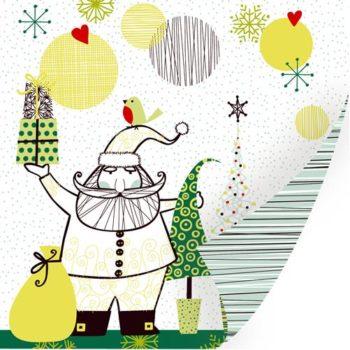 Бумага Kris Kringle -SEI с фольгированием 30,5*30,5см