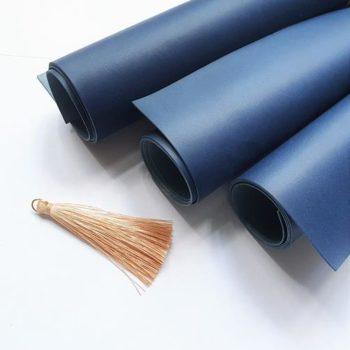 Переплетный кожзаменитель Vivella синий 35*50 матовый