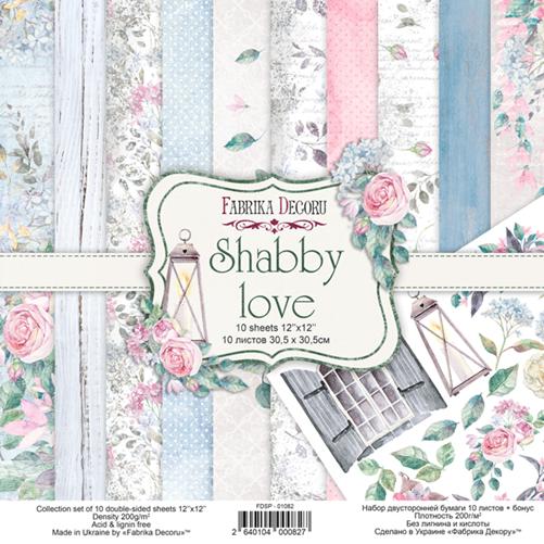 Набор скрапбумаги Shabby love - Фабрика Декору, 30,5x30,5см