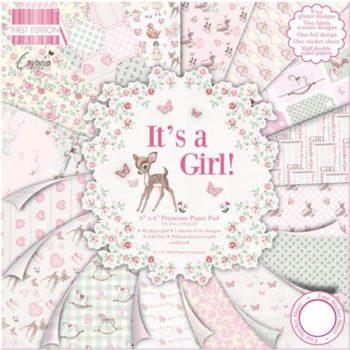 набора бумаги с эффектами Its a Girl - Trimcraft 30,5*30,5см