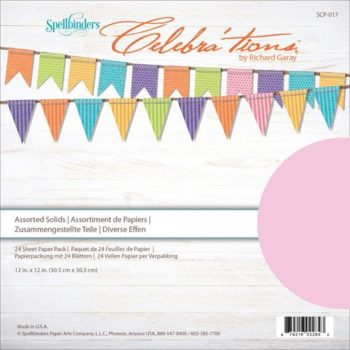 Набор кардстока Celebrations - Spellbinders - Assorted Solids Cardstock, 30*30см 24 листа
