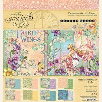 4502082 Набор бумаги Fairie Wings - Graphic 45, 20*20, 24 листа