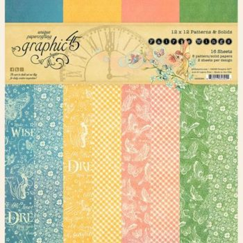 4502084 Набор бумаги Fairie Wings - Patterns & Solid - Graphic 45 30*30см