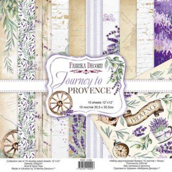 Набор скрапбумаги Journey to Provence — Фабрика Декору, 30,5×30,5см