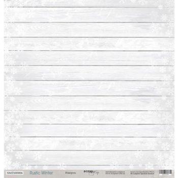Лист бумаги Rustic Winter – Изморозь от Scrapmir 30,5*30,5