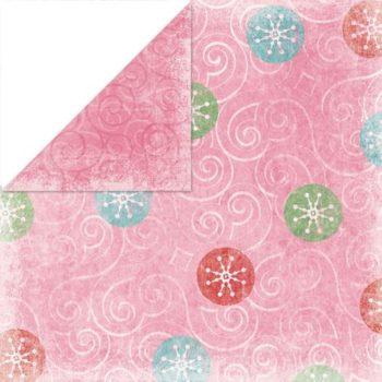 Бумага Holiday Cheer Swirly Whirly - Bo Bunny 30,5х30,5