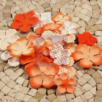 Набор бумажных цветов E-line Orange - Prima Marketing, 24 шт.