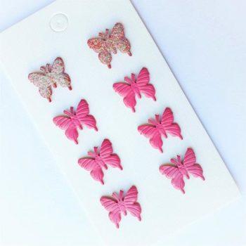 Фигурные брадсы Бабочки 14мм 8 шт.