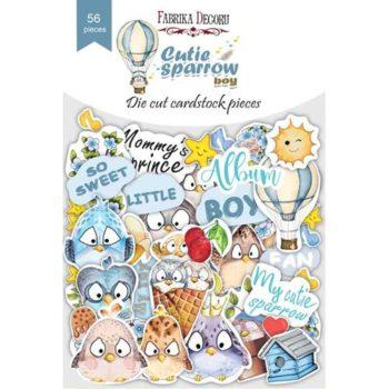 Набор высечек Cutie sparrow boy - Фабрика Декору 56 шт
