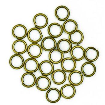 250460 Фурнитура, колечки металлические, латунь 6мм 50 шт.