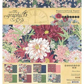 4502159 Набор бумаги Blossom — Graphic 45, 20*20см 24 листа