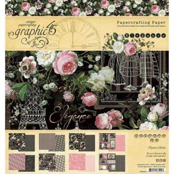 4502194 Набор бумаги Elegance - Graphic 45, 20*20см 24 листа
