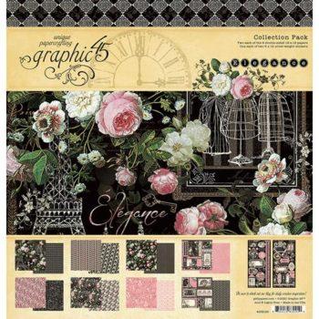4502195 Полный набор бумаги Elegance - Graphic 45, 30*30см