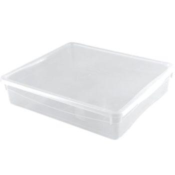 Короб с крышкой для скрапбумаги пластиковый Прозрачный 400х335х85 мм