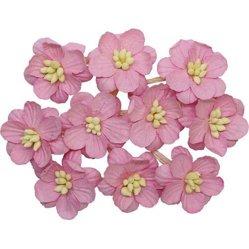 Цветки вишни набор Шебби-розовый - ScrapBerrys, 10 шт.