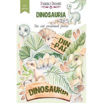 Набор высечек Dinosauria - Фабрика Декору 61 шт