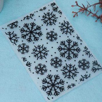 Форма для тиснения Снежинки - CraftBox 14,5*10,5 см