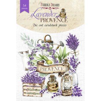 Набор высечек Lavender Provence (Лавандовый Прованс) - Фабрика Декору 54 шт