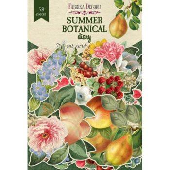 Набор высечек Summer botanical diary - Фабрика Декору 58 шт