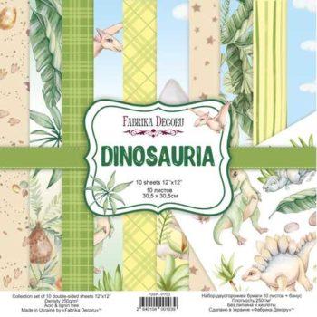 Набор скрапбумаги Dinosauria - Фабрика Декору, 30,5x30,5см