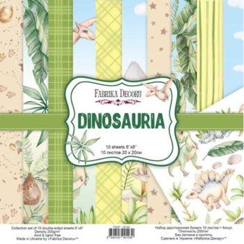 Набор скрапбумаги Dinosauria - Фабрика Декору, 20x20см