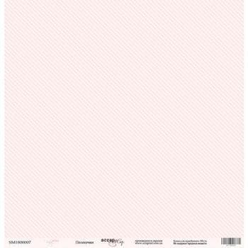 Лист бумаги Baby Girl – Полосочки от Scrapmir 30,5*30,5