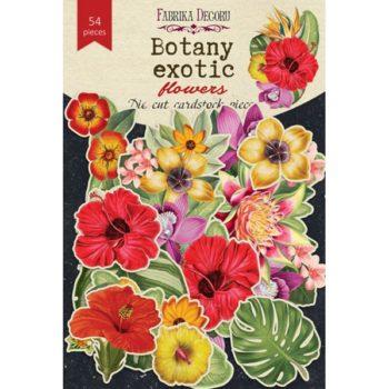 Набор высечек Botany exotic flower - Фабрика Декору 54 шт