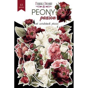 Набор высечек Peony passion (Пионовая страсть) - Фабрика Декору 63 шт