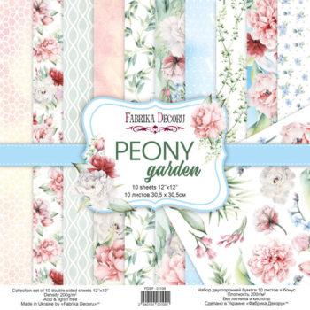 Набор скрапбумаги Peony garden (Пионовый сад) - Фабрика Декору 30,5x30,5см