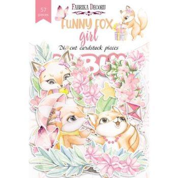 Набор высечек Funny fox girl (Забавная лиса, девочка) - Фабрика Декору 57 шт