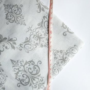 Отрез ткани Вензеля Серые на белом 50*50 см, хлопок