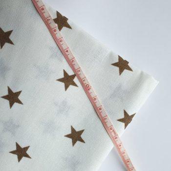 Отрез ткани Звезды коричневые 50*50 см, хлопок