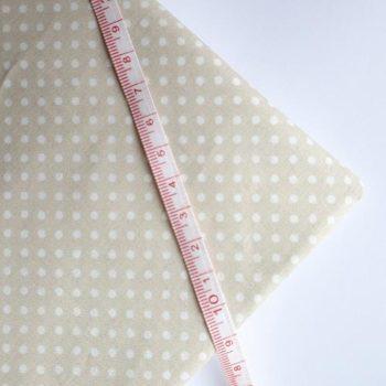 Отрез ткани Бежевая в белый горошек 50*50 см, хлопок