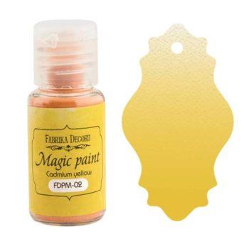 Сухая краска Magic paint — Кадмий желтый — Фабрика Декору 15мл