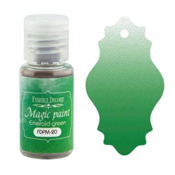 Сухая краска Magic paint — Изумрудно-зеленый — Фабрика Декору 15мл