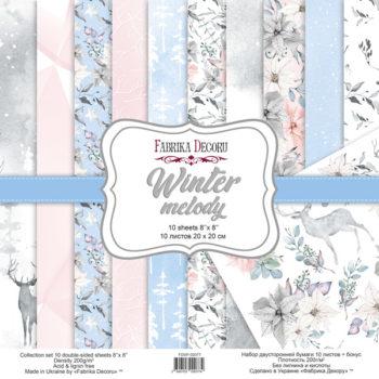 Набор скрапбумаги Winter melody - Фабрика Декору 20x20см