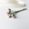 Бумажные мини-розы в бутонах Розовые 0,5 см, 10 штук