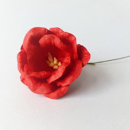 Цветок из бумаги Красный 3,5см