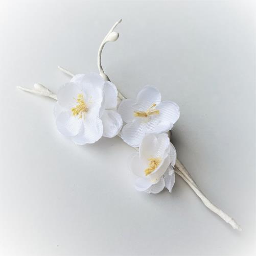 Ветка вишни цветы тканевые Белые