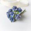 FR1201 Бумажные розы Синие 12мм, 10 шт