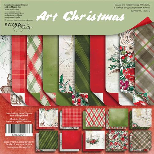 Набор бумаги Art Christmas – Scrapmir 30х30см 10 листов